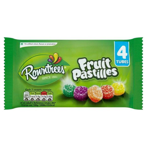 Grocemania Grocery Delivery London| Rowntrees Fruit Pastilles x4 tubes