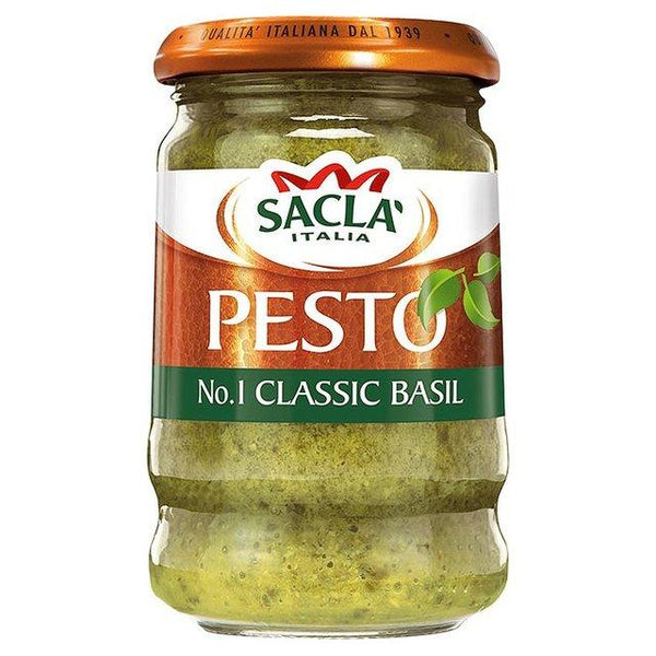 Grocemania Grocery Delivery London| Sacla Classic Basil Pesto 190g