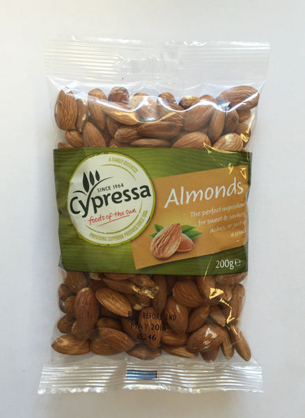 Grocery Delivery London - Cypressa Almonds 200g same day delivery
