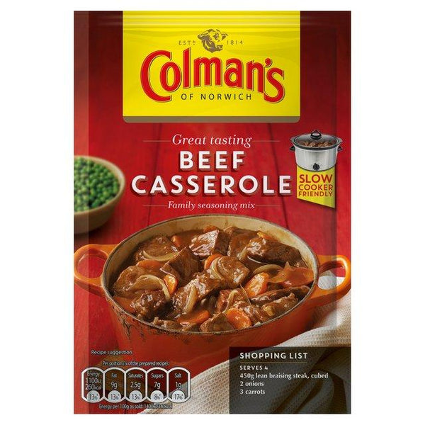 Grocery Delivery London - Colman's Beef Casserole Recipe Mix 40g same day delivery