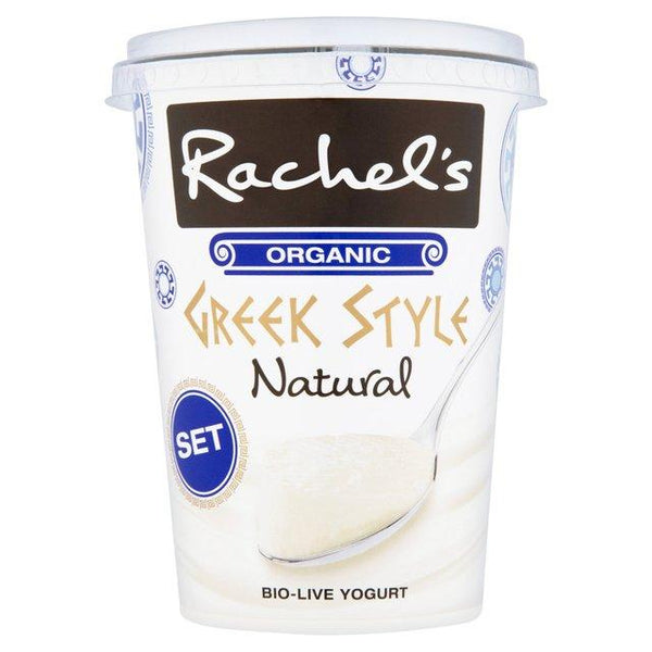 Grocemania Grocery Delivery London| Rachel's Organic Set Greek Style Natural Yogurt 450g