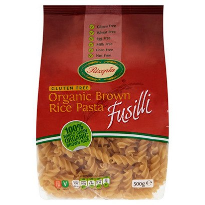 Grocemania Grocery Delivery London| Rizopia Organic Brown Rice Pasta Fusilli 500g