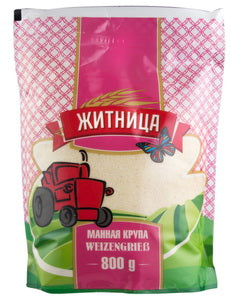 Grocery Delivery London - Semolina (Mannaja Krupa) Zhitnica 800g same day delivery