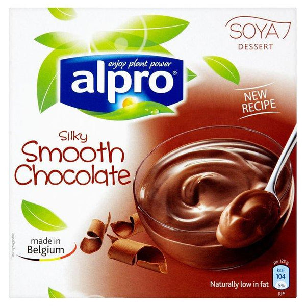 Grocery Delivery London - Alpro Silky Smooth Chocolate - Soya Dessert Pots 2x125g same day delivery