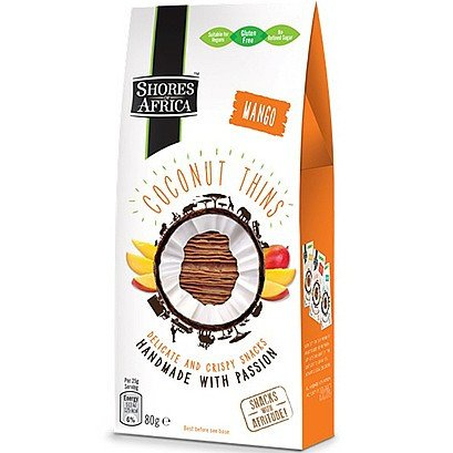 Grocemania Grocery Delivery London| Shores of Africa Coconut Thins Mango 80g