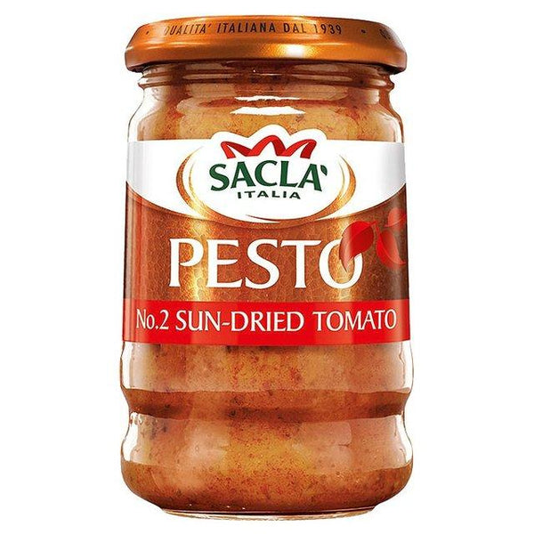 Grocemania Grocery Delivery London| Sacla Sun-Dried Tomato Pesto 190g