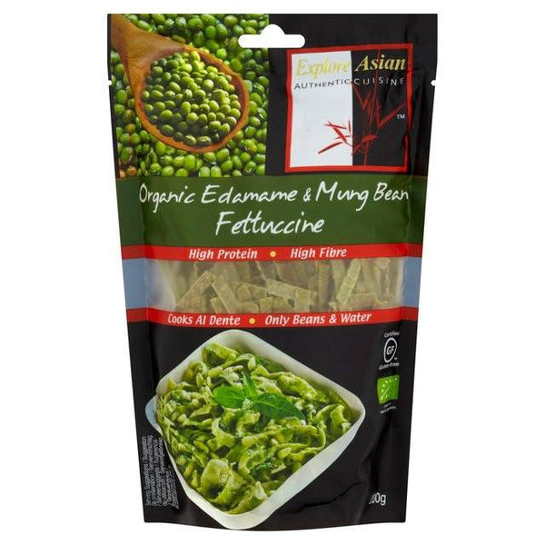 Grocemania Grocery Delivery London| Organic Edamame & Mung Bean Fettuccine 200g
