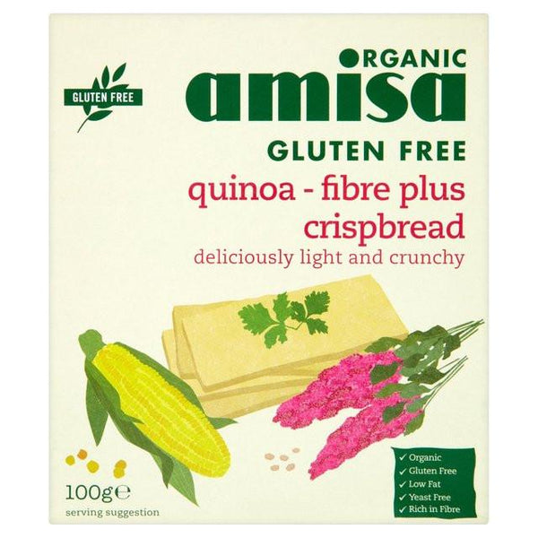Grocery Delivery London - Amisa Organic Gluten Free Quinoa Fibre Plus 100g same day delivery