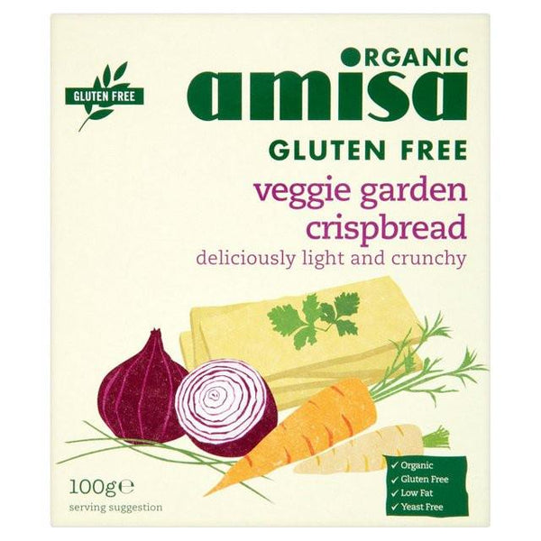 Grocery Delivery London - Amisa Organic Gluten Free Veggie Crispbread same day delivery