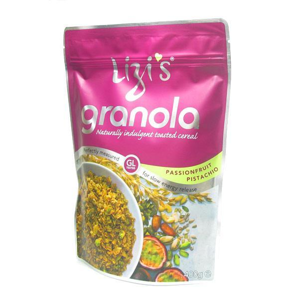 Grocemania Grocery Delivery London| Lizis Granola Passion Fruit Pistachio 500g