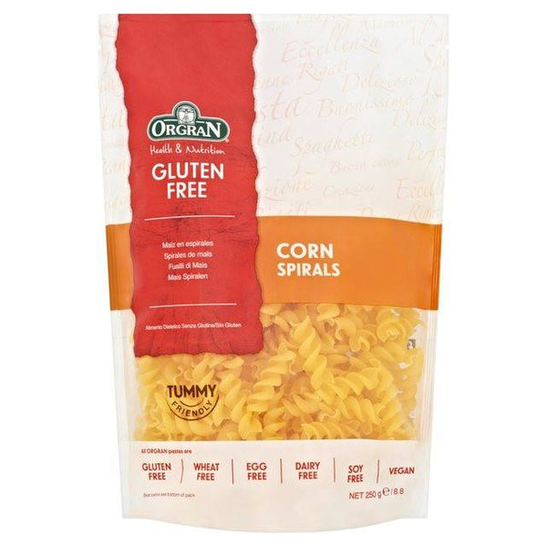 Grocemania Grocery Delivery London| Gluten Free Corn Pasta Spirals 250g
