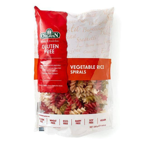 Grocery Delivery London - Orgran Gluten Free Vegetable Rice Pasta Spirals 250g same day delivery