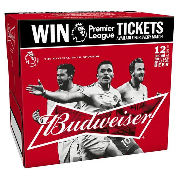Grocemania Grocery Delivery London| Budweiser 12x300ml