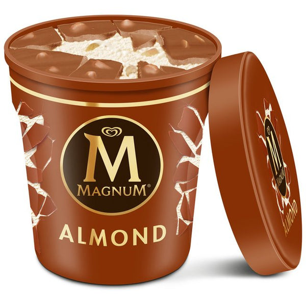 Grocery Delivery London - Magnum Tub Almond Ice Cream 440ml same day delivery