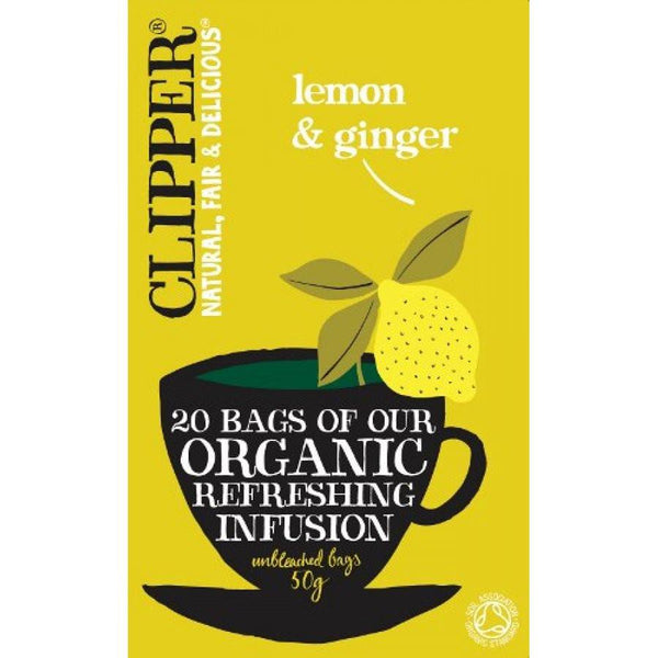 Grocery Delivery London - Clipper Lemon & Ginger Tea 20 bags same day delivery