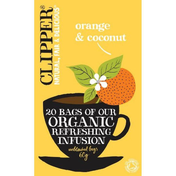 Grocemania Grocery Delivery London| Clipper Orange & Coconut Tea 20 bags