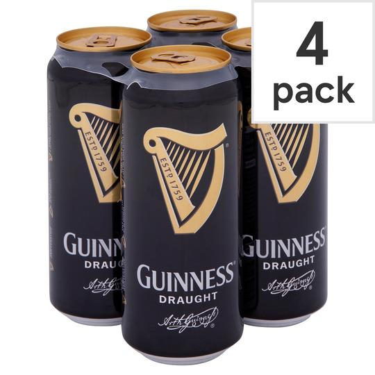 Grocemania Grocery Delivery London| Guinness Draught 4x500ml