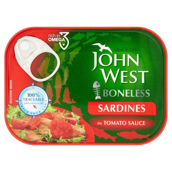 Grocemania Grocery Delivery London| John West Sardines in Tomato Sauce 100g
