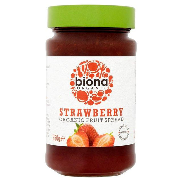 Grocery Delivery London - Biona Organic Strawberry Jam 250g same day delivery