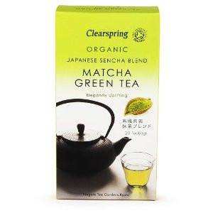 Grocemania Grocery Delivery London| Clearspring Organic Sencha Matcha Green Tea 20 bags