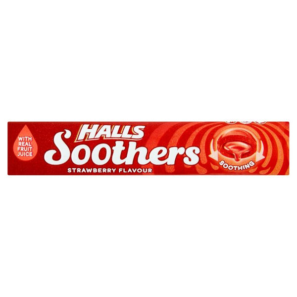Grocery Delivery London - Halls Soothers Strawberry 45g same day delivery