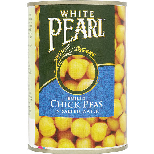 Grocery Delivery London - White Pearl Boiled Chickpeas 400g same day delivery