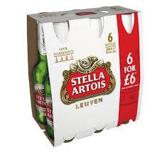 Grocery Delivery London - Stella Artois 6x284ml same day delivery