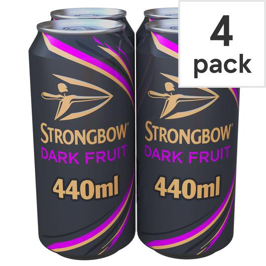 Grocemania Grocery Delivery London| Strongbow Dark Fruits 4x440ml