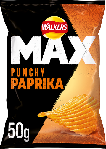 Grocery Delivery London - Walkers Max Paprika Crisps 50g same day delivery