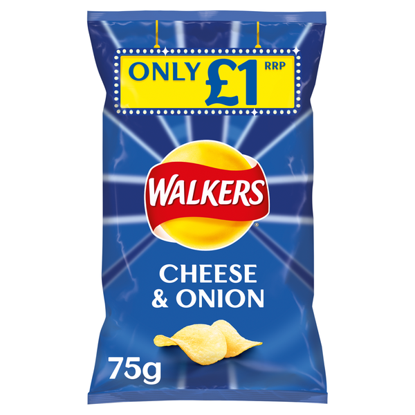 Grocery Delivery London - Walkers Cheese and Onion 80g same day delivery
