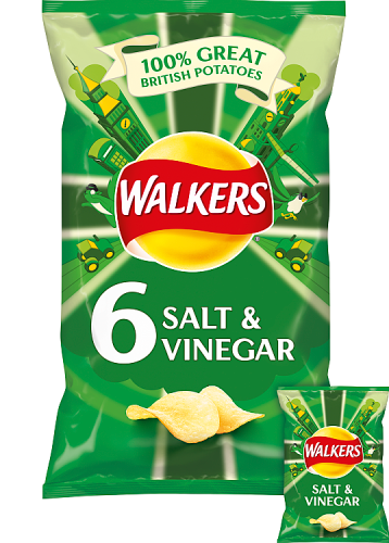 Grocery Delivery London - Walkers Salt & Vinegar 6 pack same day delivery