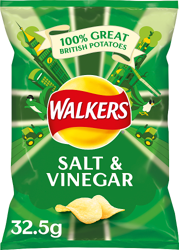 Grocery Delivery London - Walkers Salt And Vinegar Crisps 32.5g same day delivery
