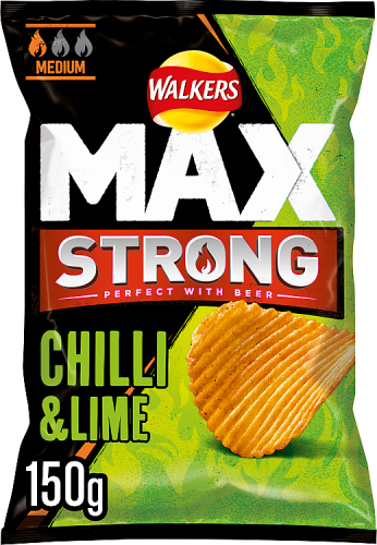 Grocery Delivery London - Walkers Max Strong Chilli And Lime Crisps 150g same day delivery
