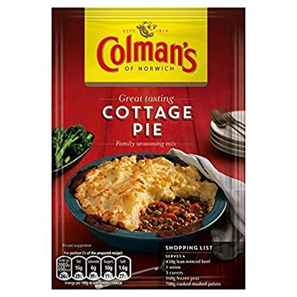 Grocery Delivery London - Colman's Cottage Pie Recipe Mix 45g same day delivery