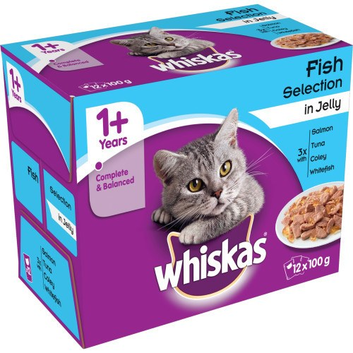 Whiskas Simply Cat Food Pouch Steamed Fish in Jelly 12x85g - Grocemania