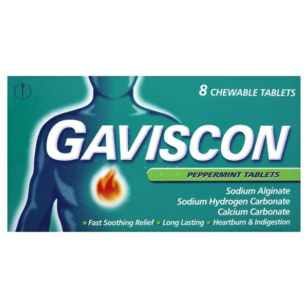 Grocery Delivery London - Gaviscon Peppermint Tablets same day delivery