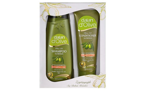 Grocemania Grocery Delivery London| Dalan D'Olive Shampoo Carton Gift Set