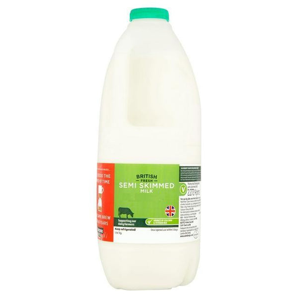 Grocery Delivery London - British Fresh Semi Skimmed Milk 1/2/4/6 Pints same day delivery