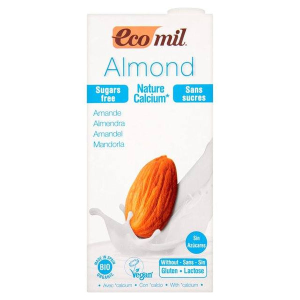 Grocery Delivery London - Ecomil Organic Sugar Free Almond Calcium Drink 1L same day delivery