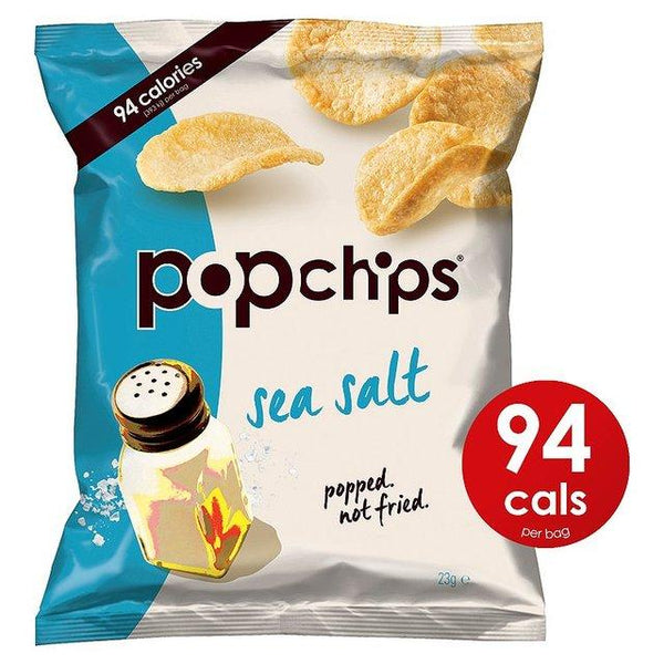Grocery Delivery London - Popchips Sea Salt Popped Potato Chips 23g same day delivery