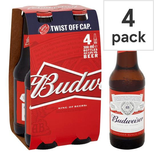 Grocemania Grocery Delivery London| Budweiser 4x300ml