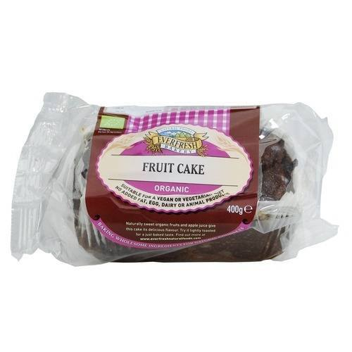 Grocemania Grocery Delivery London| Everfresh Organic Fruit Cake 400g
