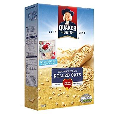 Grocemania Grocery Delivery London| Quaker Oats 100% Wholegrain Porridge 1KG