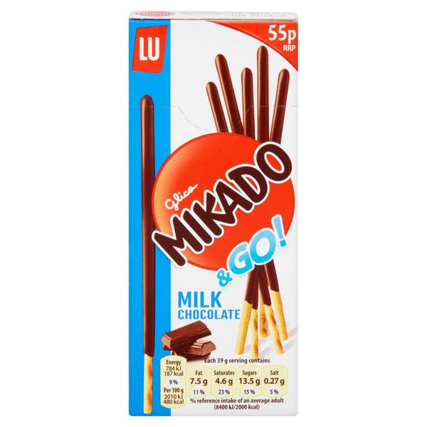 Grocemania Grocery Delivery London| Mikado Go Milk Chocolate 51g