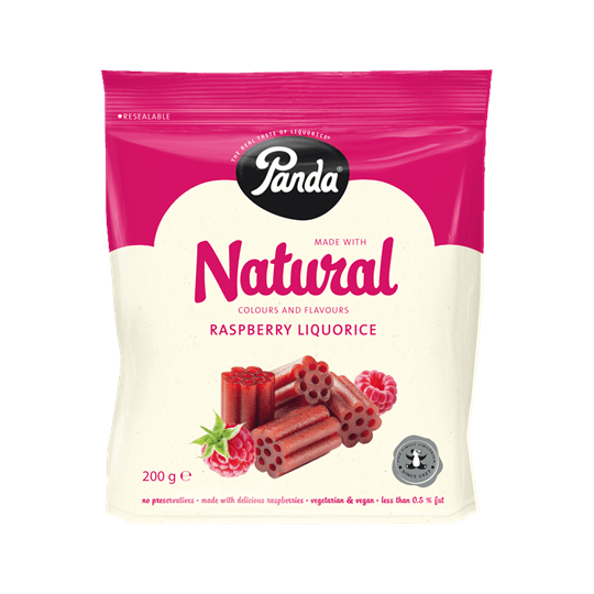 Grocery Delivery London - Natural Raspberry Liquorice 200g same day delivery