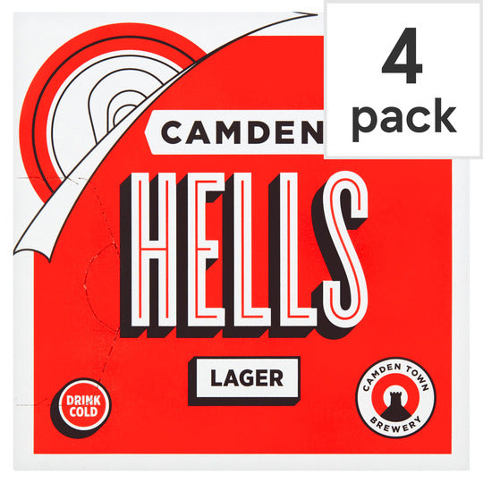 Grocery Delivery London - Camden Hells Lager 4X330ml same day delivery