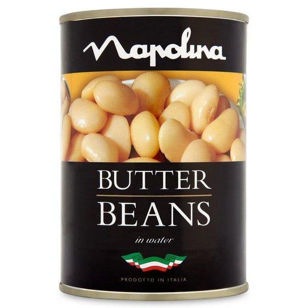 Grocemania Grocery Delivery London| Napolina Butter Beans 400g