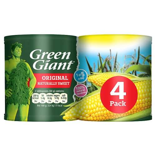 Grocery Delivery London - Green Giant Original Sweet Corn 198g 4pk same day delivery