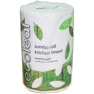Grocemania Grocery Delivery London| EcoLeaf Jumbo Kitchen Roll