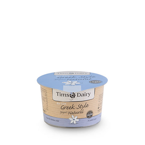 Grocery Delivery London - Tim's Dairy Bio-Live Greek Style Yogurt Natural 200g same day delivery